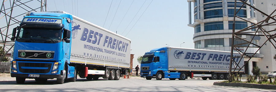 road freight banner